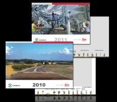 Макеты квартальных календарей для компании Навгеоком